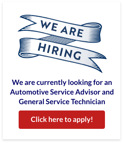 We are currently looking for an Automotive Service Advisor and General Service Technician, apply now!